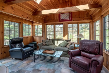 Orleans Cape Cod vacation rental - Sunroom with comfy seating - great workspace