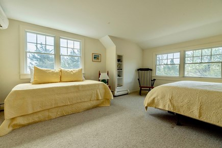 Orleans Cape Cod vacation rental - East-facing upstairs bedroom with queen and trundle bed, AC