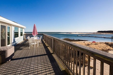 Chatham Cape Cod vacation rental - Large private deck features picnic table and umbrella