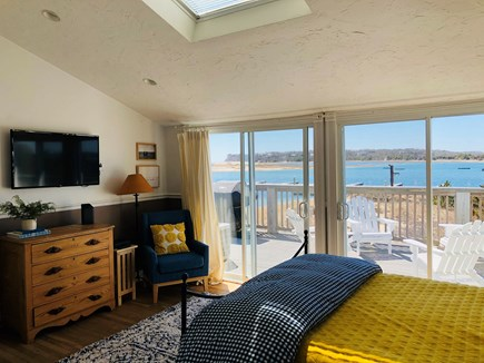 Chatham Cape Cod vacation rental - Bedroom w/queen bed, smart TV, slider to deck, attached bath