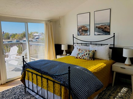 Chatham Cape Cod vacation rental - Bedroom with queen, attached bath, sliders to deck, smart TV