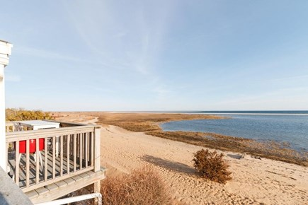 Chatham Cape Cod vacation rental - Small private deck at front with two bat stools