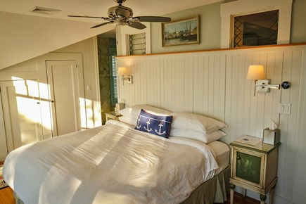 West Falmouth Cape Cod vacation rental - Captain's Quarters with harbor views and private balcony/bath
