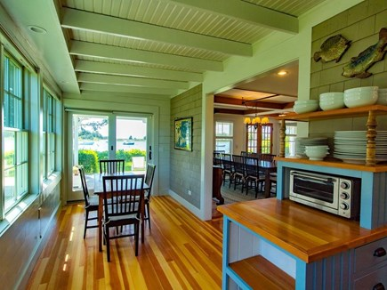 West Falmouth Cape Cod vacation rental - Breakfast Nook with views of Snug Harbor