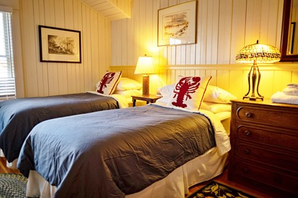 West Falmouth Cape Cod vacation rental - Screw Room(Nautical Term)Can be made into twins or King Bed
