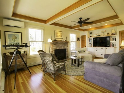West Falmouth Cape Cod vacation rental - Living Room with Remote Fireplace