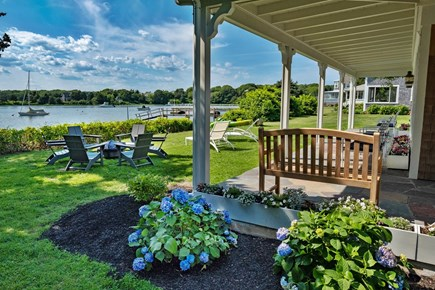 West Falmouth Cape Cod vacation rental - Fireplace and front patio