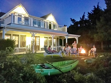West Falmouth Cape Cod vacation rental - Enjoy a fire out front next to Snug Harbor after kayaking