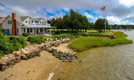 West Falmouth Cape Cod vacation rental - View of Harbor House in the Summer