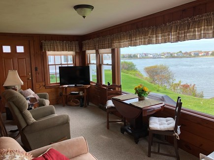 Bourne, Gray Gables Cape Cod vacation rental - Smart TV on enclosed porch - Oh, the views!