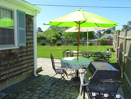 Dennis Cape Cod vacation rental - Enjoy drinks or grill out on back patio, outdoor shower