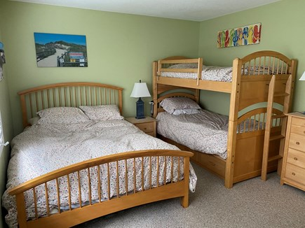 Brewster Cape Cod vacation rental - Second bedroom with Queen and twin bunk beds