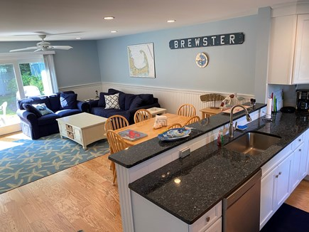 Brewster Cape Cod vacation rental - Kitchen with view of back patio