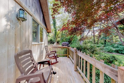Brewster Cape Cod vacation rental - Front Deck and gas Bar-B-Que