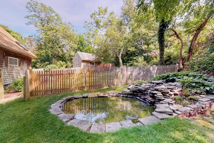 Brewster Cape Cod vacation rental - Koi Pond, Waterfall, and Fenced backyard