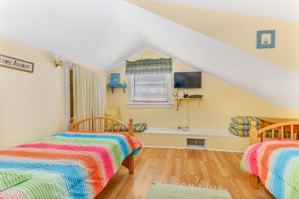 West Dennis Cape Cod vacation rental - 2nd Floor: twin bedroom. Cable TV, PlayStation 3, and half bath
