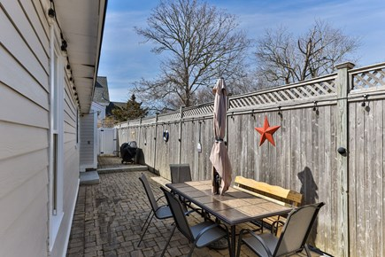 West Dennis Cape Cod vacation rental - Large Back Patio, plenty of space to hang out!