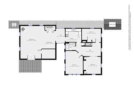 West Dennis Cape Cod vacation rental - First floor plan