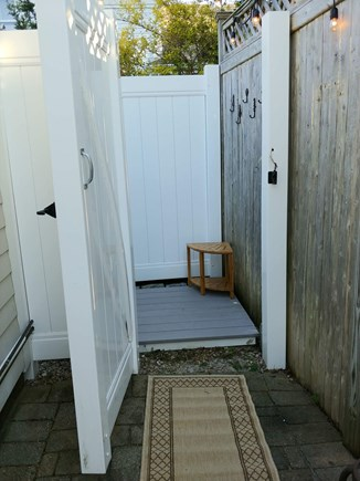 West Dennis Cape Cod vacation rental - Well lit, clean outdoor shower to rinse off after beach