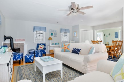 West Dennis Cape Cod vacation rental - Open living space with in-wall AC unit