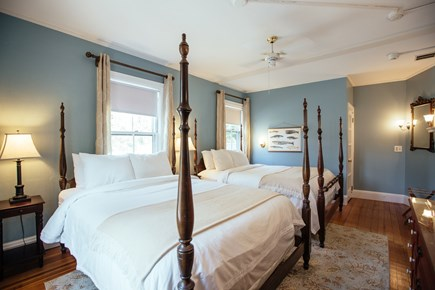 Falmouth Cape Cod vacation rental - Upstairs room with two queen beds & en-suite bathroom