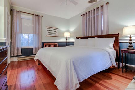 Falmouth Cape Cod vacation rental - Upstairs bedroom with king-sized bed & en-suite bathroom