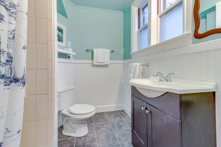 Falmouth Cape Cod vacation rental - En-suite bathroom for downstairs bedroom