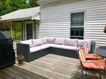 Falmouth Cape Cod vacation rental - Behind the house, a large deck for barbecues & cocktails awaits