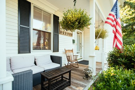Falmouth Cape Cod vacation rental - The front porch is a favored spot to watch the world pass by