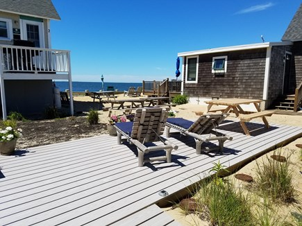 North Truro Cape Cod vacation rental - Great Water Vies from Deck
