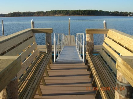 West Dennis Cape Cod vacation rental - Sit on the Benches on the shared dock and watch the sunsets.