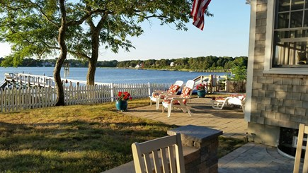 West Dennis Cape Cod vacation rental - Waterside Patio for lounge chairs