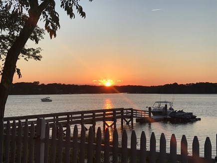 West Dennis Cape Cod vacation rental - Beautiful Sunsets from either patio or fire pit area.