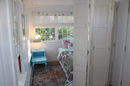 Dennis Port Cape Cod vacation rental - Bright semi-private bedroom with room divider.