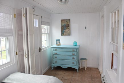 Dennis Port Cape Cod vacation rental - Dresser and room divider in semi-private room.