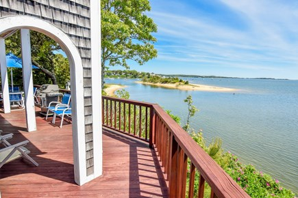 East Harwich Cape Cod vacation rental - Spacious deck with panoramic water views