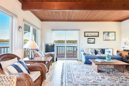 East Harwich Cape Cod vacation rental - Open concept living area, with spectacular water views