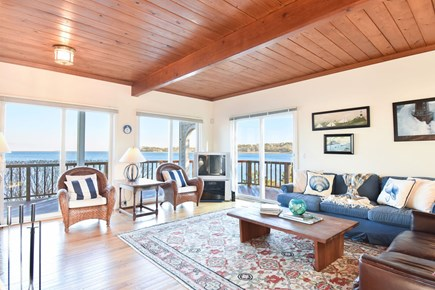 East Harwich Cape Cod vacation rental - Bright, airy living area with flat screen tv and ocean views