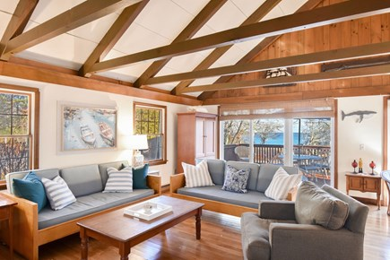 East Harwich Cape Cod vacation rental - Bright and airy open concept living area with views of the water