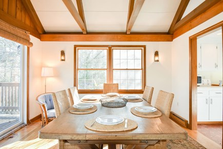 East Harwich Cape Cod vacation rental - Cheerful dining area with water views