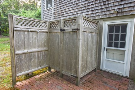 East Harwich Cape Cod vacation rental - Rinse off after a day at the beach in this outside shower