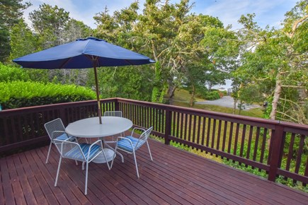 East Harwich Cape Cod vacation rental - Large deck for entertaining with water views and gas grill