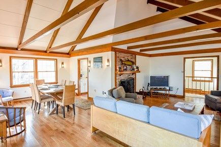 East Harwich Cape Cod vacation rental - Open concept Living and dining area