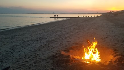 Truro Cape Cod vacation rental - Bonfires on the private beach -- no need for a permit.