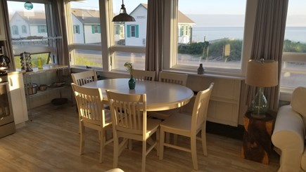 Truro Cape Cod vacation rental - The Golden Hour - sunset in the kitchen
