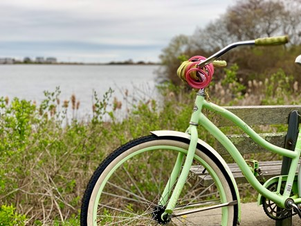 Falmouth Village Cape Cod vacation rental - 5-min bike ride to Surf Drive beach, woods and the Main Street.