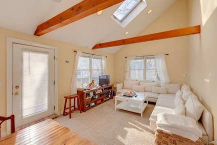 Falmouth Cape Cod vacation rental - Lovely, bright living room with cathedral ceiling and skylights