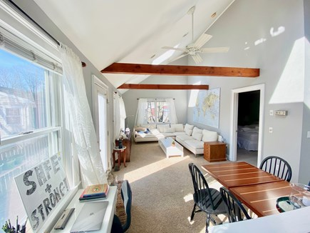 Falmouth Cape Cod vacation rental - Sofa and TV area is at one end of the main room