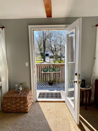 Falmouth Cape Cod vacation rental - Door leads from the main room to the balcony. Come out and enjoy.