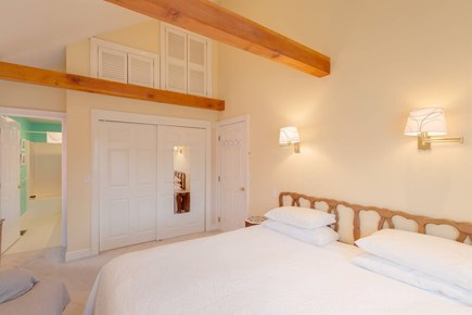 Falmouth Cape Cod vacation rental - Spacious bedroom with cathedral ceiling and king-size bed